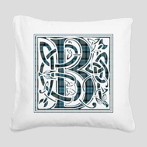 Monogram - Baird Square Canvas Pillow