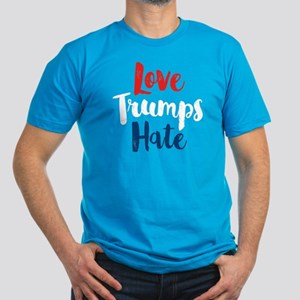 Love Trumps Hate Men's Fitted T-Shirt (dark)