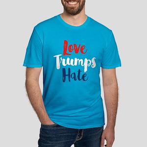 Love Trumps Hate Men's Fitted T-Shirt (dark)