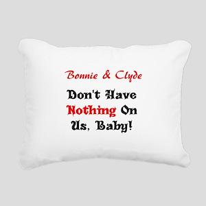 Bonnie & Clyde Rectangular Canvas Pillow