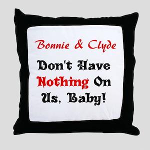 Bonnie & Clyde Throw Pillow