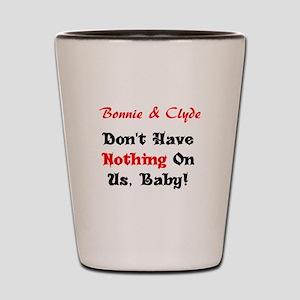 Bonnie & Clyde Shot Glass