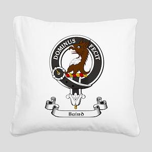 Badge - Baird Square Canvas Pillow
