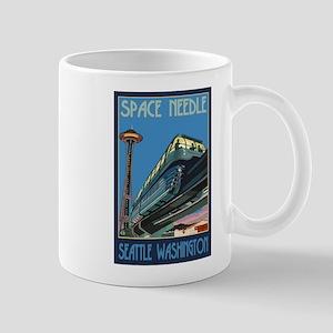 Seattle, Washington - Space Needle & Monorail Mugs