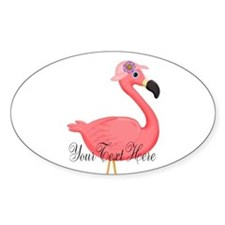 Pink Flamingo Lady Sticker