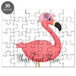 Pink Flamingo Lady Puzzle