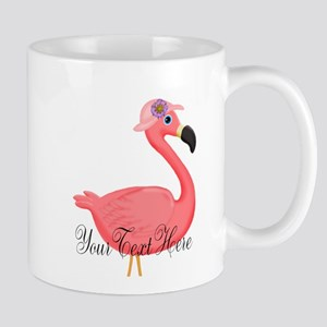 Pink Flamingo Lady Mugs