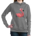 Pink Flamingo Lady Women's Hooded Sweatshirt