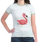 Pink Flamingo Lady T-Shirt