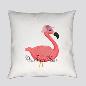Pink Flamingo Lady Everyday Pillow