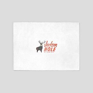 Vintage Jackson Hole 5'x7'Area Rug