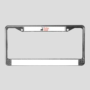 Vintage Jackson Hole License Plate Frame