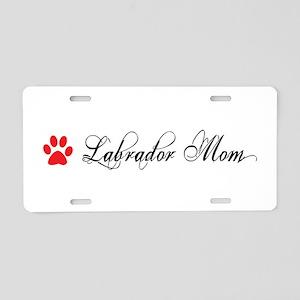 Labrador Mom Fancy Aluminum License Plate