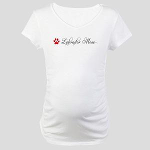 Labrador Mom Fancy Maternity T-Shirt