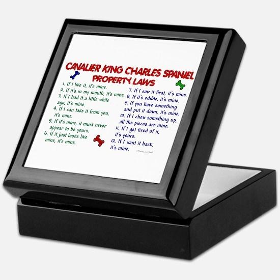 Cavalier King Charles Property Laws 2 Keepsake Box