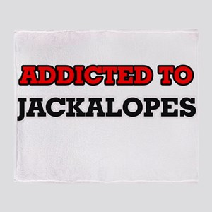 Addicted to Jackalopes Throw Blanket