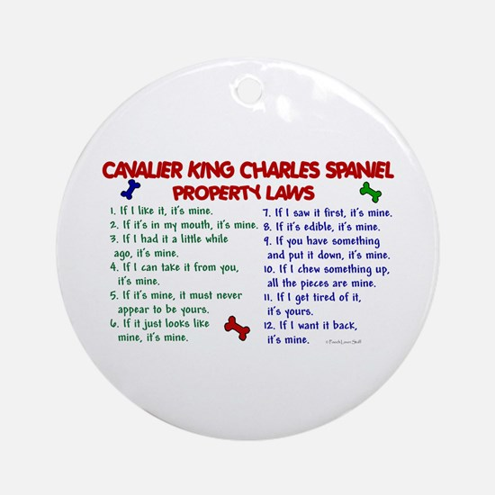 Cavalier King Charles Property Laws 2 Ornament (Ro