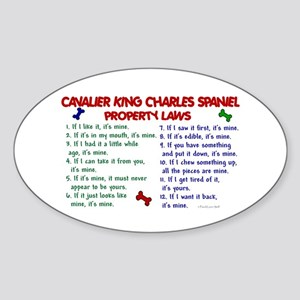 Cavalier King Charles Property Laws 2 Sticker (Ova