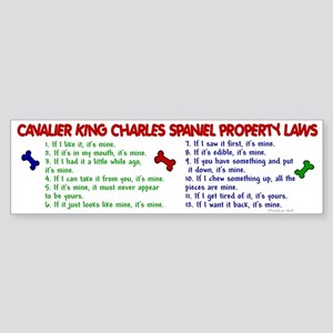 Cavalier King Charles Property Laws 2 Sticker (Bum