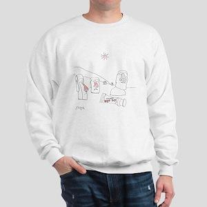 Sun Burn Cartoon 9354 Sweatshirt