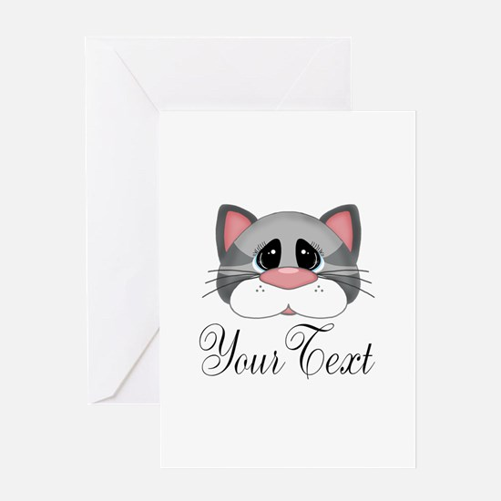 Gray Cat Greeting Cards