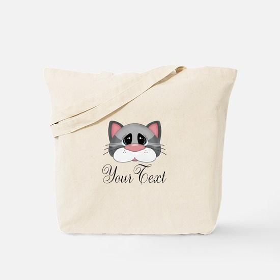 Gray Cat Tote Bag