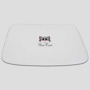 Gray Cat Bathmat