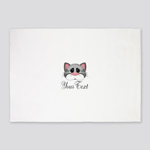 Gray Cat 5'x7'Area Rug