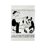 Panda Cartoon 9352 Rectangle Magnet