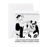 Panda Cartoon 9352 Greeting Card