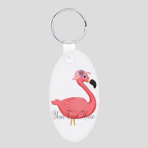 Pink Flamingo Lady Keychains