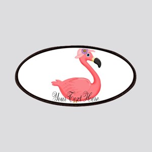 Pink Flamingo Lady Patch