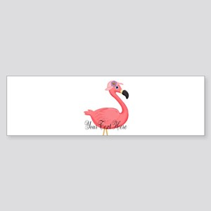 Pink Flamingo Lady Bumper Sticker