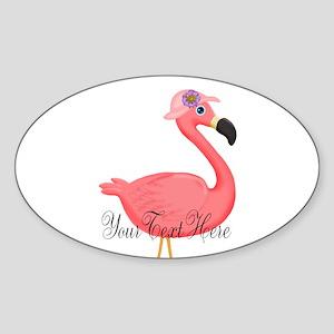 Pink Flamingo Lady Sticker