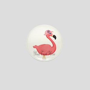 Pink Flamingo Lady Mini Button