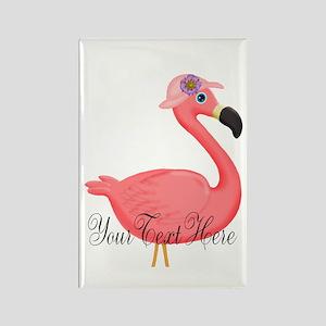 Pink Flamingo Lady Magnets