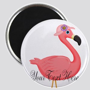 Pink Flamingo Lady Magnets