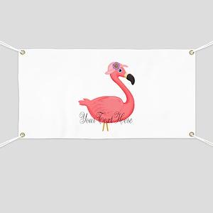 Pink Flamingo Lady Banner