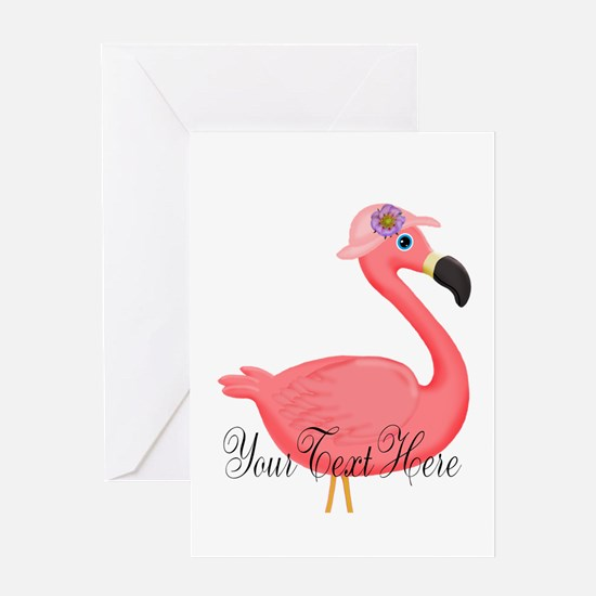 Pink Flamingo Lady Greeting Cards