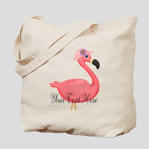 Pink Flamingo Lady Tote Bag
