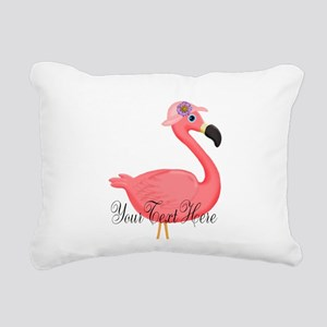 Pink Flamingo Lady Rectangular Canvas Pillow