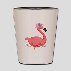 Pink Flamingo Lady Shot Glass