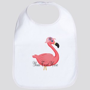 Pink Flamingo Lady Bib