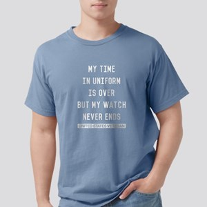 My Watch Never Ends Vete Mens Comfort Colors Shirt