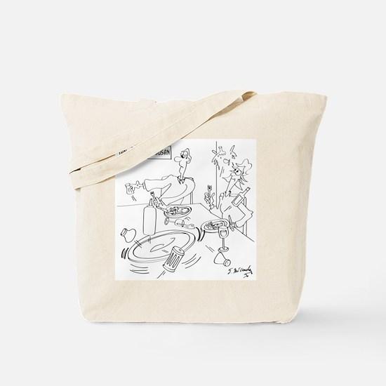 Lazy Susan Cartoon 9351 Tote Bag