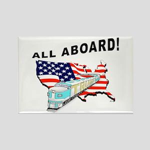 Trump Train - All Aboard! Rectangle Magnet