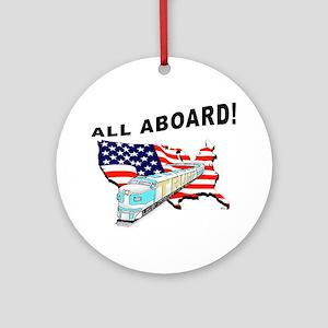 Trump Train - All Aboard! Round Ornament