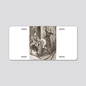 Spanking art Aluminum License Plate