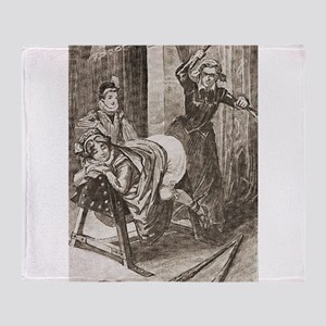 Spanking art Throw Blanket