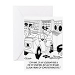 Mechanic Cartoon 9355 Greeting Card